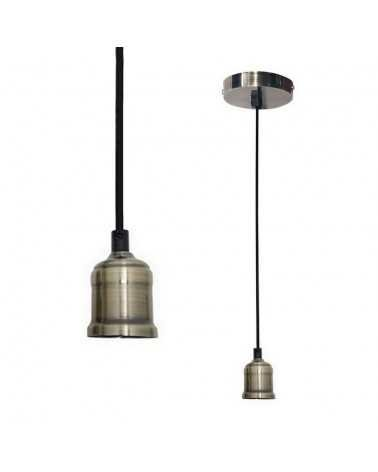 BRONZE E27 Brushed Bulb Pendant Light