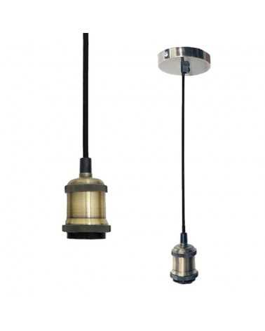 Suspension Ampoule E27 Brossé Cloche BRONZE
