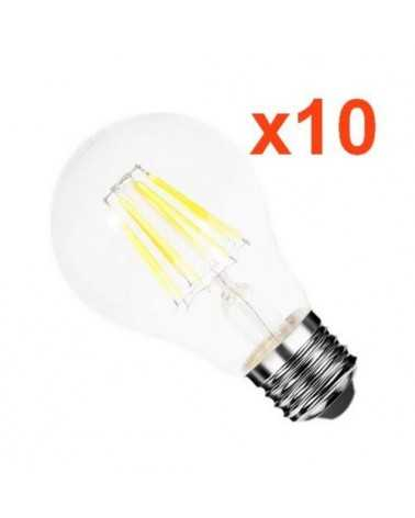 Ampoule LED E27 Filament 6W 220V COB 360° (Pack de 10)