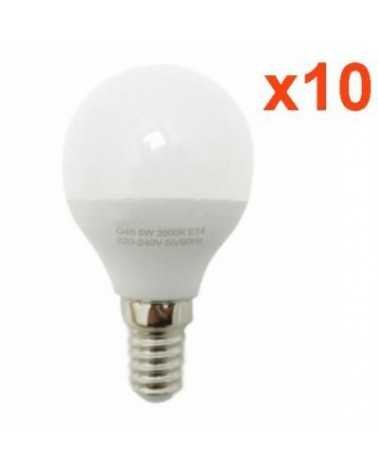 Ampoule E14 LED 6W 220V G50 220° (Pack de 10)