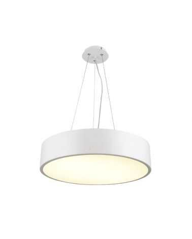 Plafonnier LED Suspendu 145W ROND BLANC SABLE