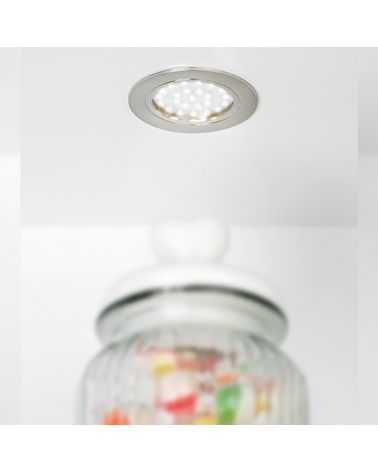 Spot LED en saillie 1.8W Gris avec support  Ø65 mm