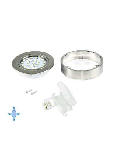 Spot LED en saillie 1.8W Nickel Satiné avec support 1.8W Ø65 mm