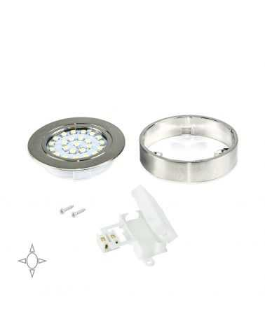 Spot LED en saillie avec support 1.8W Ø65 mm ROND
