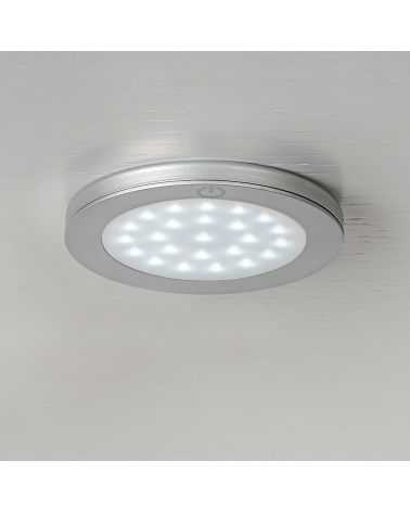 Spots LED ultra plats 15W Ø68 mm avec convertisseur (Pack de 3)