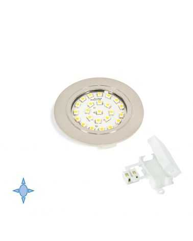 Spot LED encastrable 1.8W Ø65 mm ROND Nickel Satiné