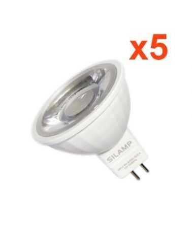Ampoule LED GU5.3 / MR16 12V 8W SMD 80° (pack de 5)