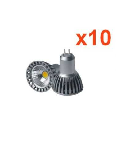 Ampoule LED COB GU5.3 / MR16 12V 4W 50° (Pack de 10)