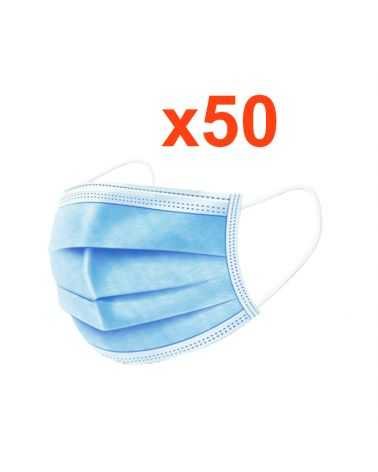 Masque chirurgical jetable tissu (Pack de 50)