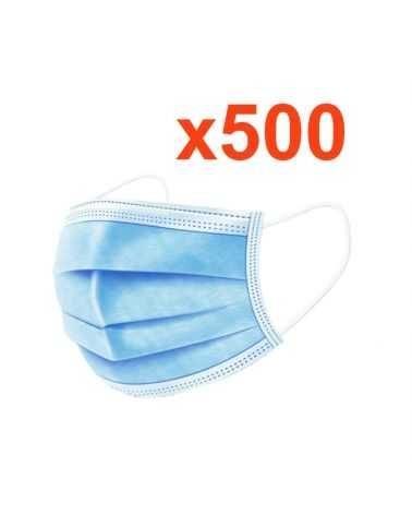 Masque chirurgical jetable tissu (Pack de 500)