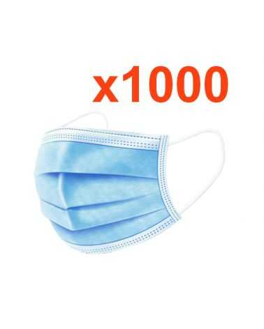 Masque chirurgical jetable tissu (Pack de 1000)