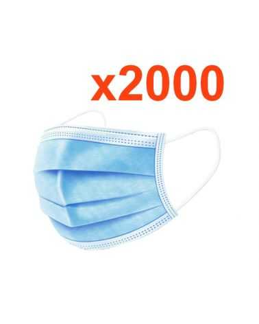 Masque chirurgical jetable tissu (Pack de 2000)