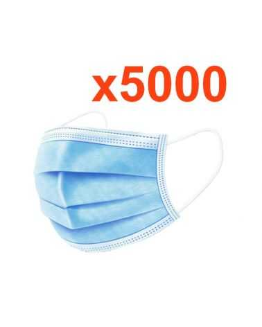 Masque chirurgical jetable tissu (Pack de 5000)