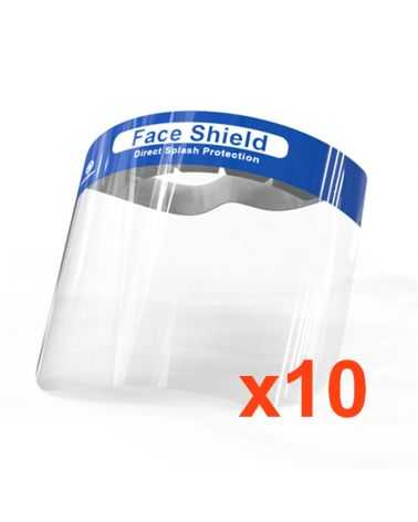 Visière de Protection Anti-Projection (Pack de 10)