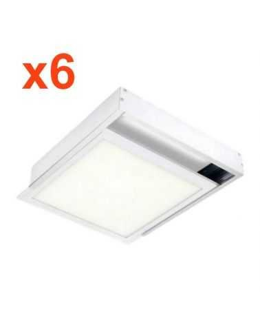 Surface Mount Kit ALU for Panel LED 60x60 Slim (Pack of 6)