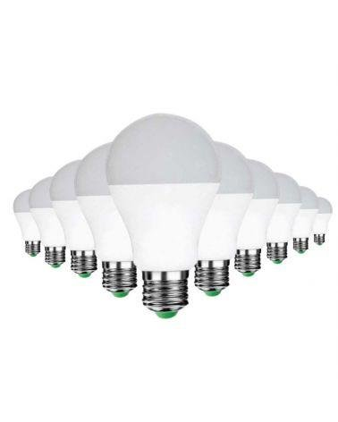 Bulb E27 LED 12W 220V A60 180 ° (Pack of 10)