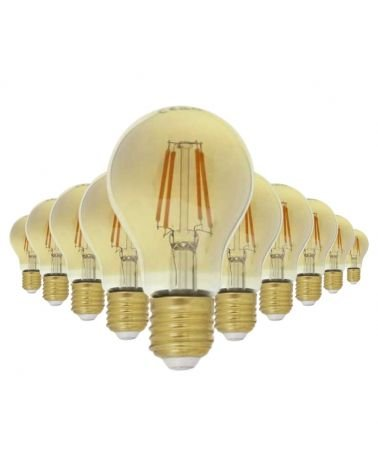 E27 LED Filament Dimmable Bulb 6W A60 Classic (Pack of 10)