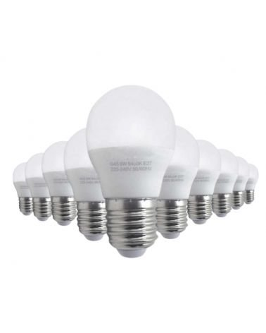 LED Bulb E27 8W 220V G45 220 ° (Pack of 10)