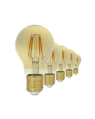 E27 LED Filament Dimmable Bulb 6W A60 Classic (Pack of 5)