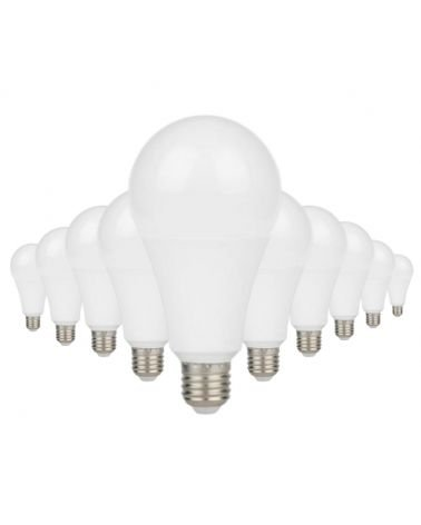 Ampoule E27 LED 18W A80 220V 230° (Pack de 10)