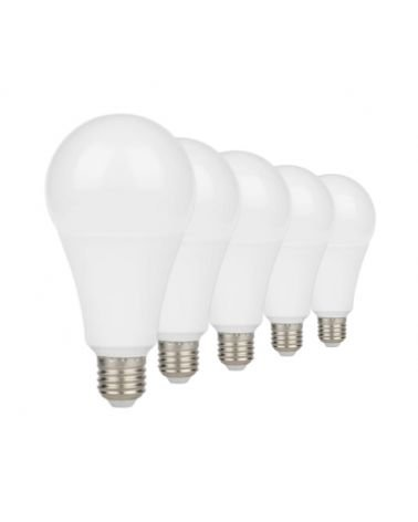 Bulb E27 LED 13W A60 220V 230 ° (Pack of 5)