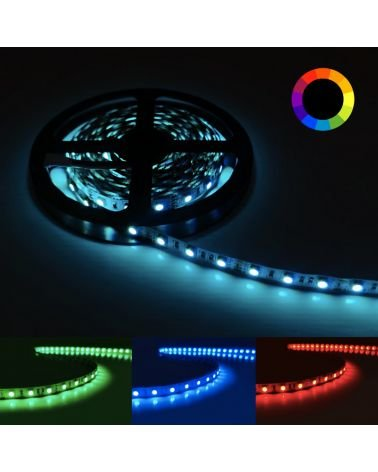 RGB LED strip 12V 5M 5050 IP20 60LED / m