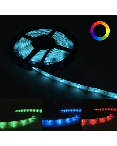 RGB LED strip 12V 5M 5050 IP44 30LED / m