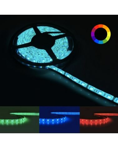 RGB LED strip 12V 5M 5050 IP44 60LED / m