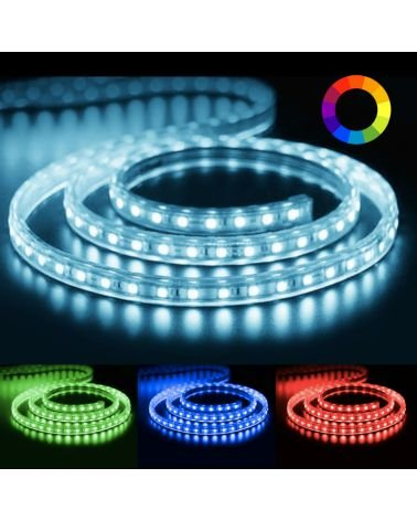 220V RGB LED strip 5050 IP65 60LED / m (per meter)