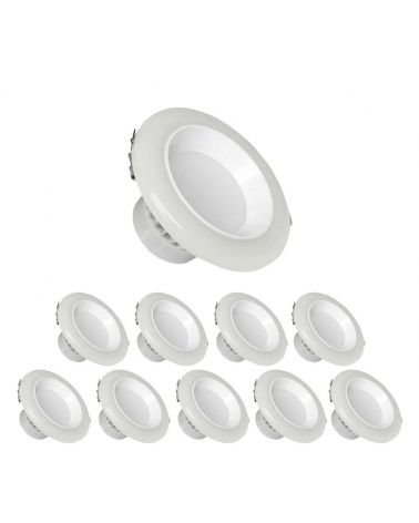 12W Dimmable LED recessed downlight 120 ° (10 Pack)