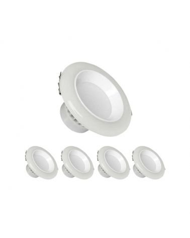 12W Dimmable LED recessed downlight 120 ° (5-Pack)