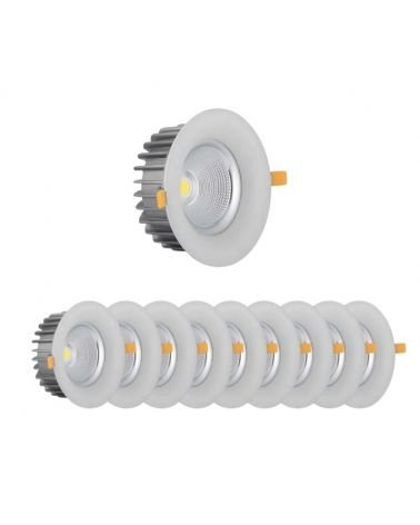 220V 40W LED recessed downlight 60 ° (10 Pack)