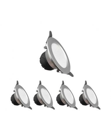 Downlight LED Spotlight 6W Built Round MONEY variable light (pack of 5)