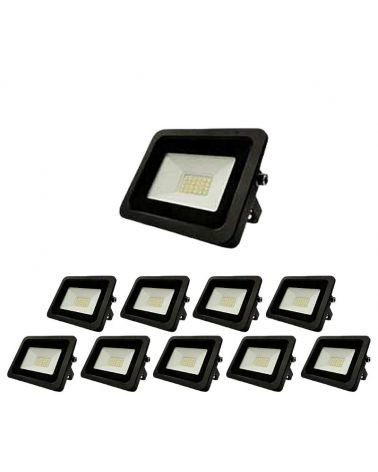 Exterior LED projector 10W IP65 BLACK (Pack of 10)