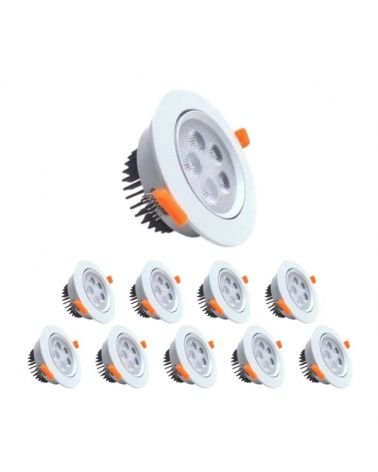 Spot LED Round 5W Built 80 ° Swivel (Pack of 10)
