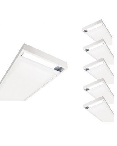 Kit for stud WHITE LED panel 120x30 Slim (Pack of 5)