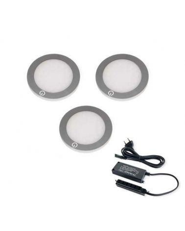 ultra-slim LED Downlights 15W converter O68 mm (Pack of 3)