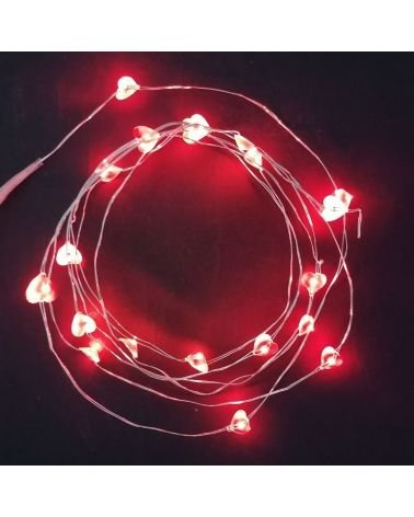 LED String battery micro 1M90 20LED IP20 - transparent cable