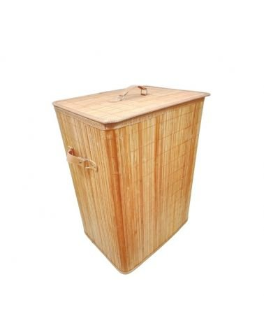 Basket with foldable machine 44x33x60cm bamboo handle