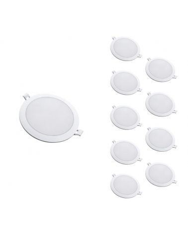 Downlight LED Panel Extra Flat Round WHITE 18W Ø170mm (Pack of 10)