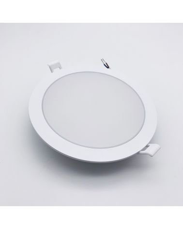 Downlight Dalle LED Extra Plate Ronde BLANC 18W Ø170mm (Pack de 10)