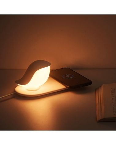 Lampe rechargeable variable avec induction,Oiseau