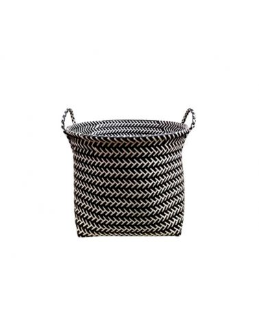Two-colour woven laundry basket 41 x H31 cm approx.
