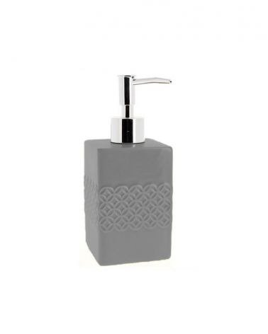 Ceramic Liquid Soap Dispenser - Relief Rosace