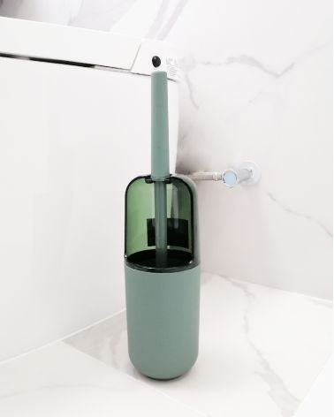 Opaque transparent plastic toilet brush - Solid color