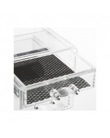 Transparent jewelry box with 2 drawers