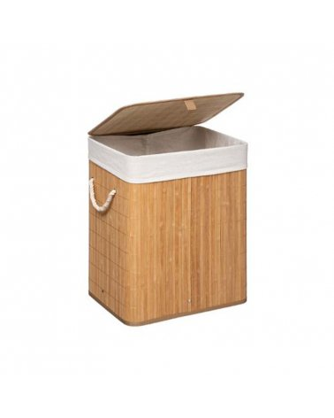 Bamboo laundry basket and 41x30x50 cm fabric