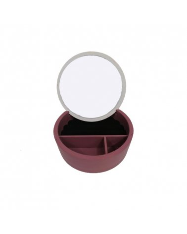 Mirror box with 3 compartments 17x17x6cm approx.