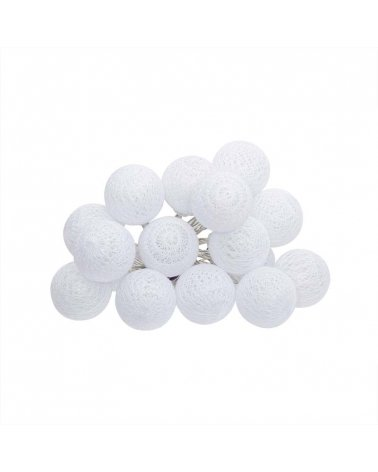 Bright Garland Ball 16pcs with 3,5cm white batteries