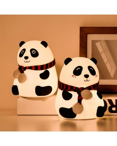 Silicon Tactile Panda Night Light (with usb cable)